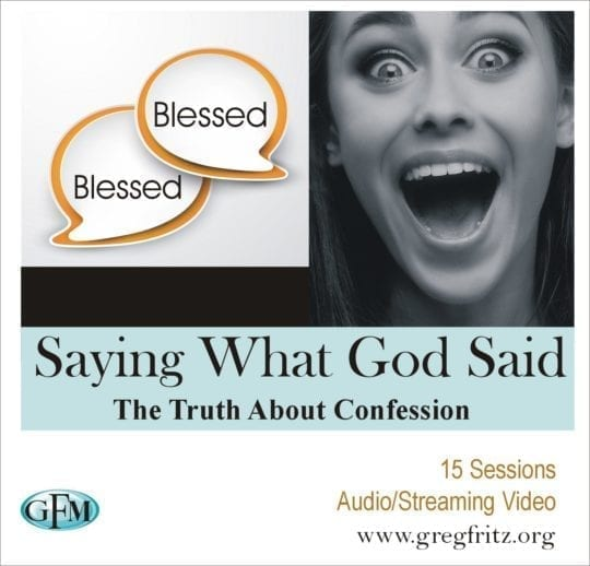 saying what God said - the truth about confession