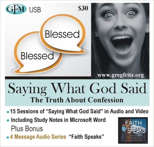 saying what God said - the truth about confession - usb bundle