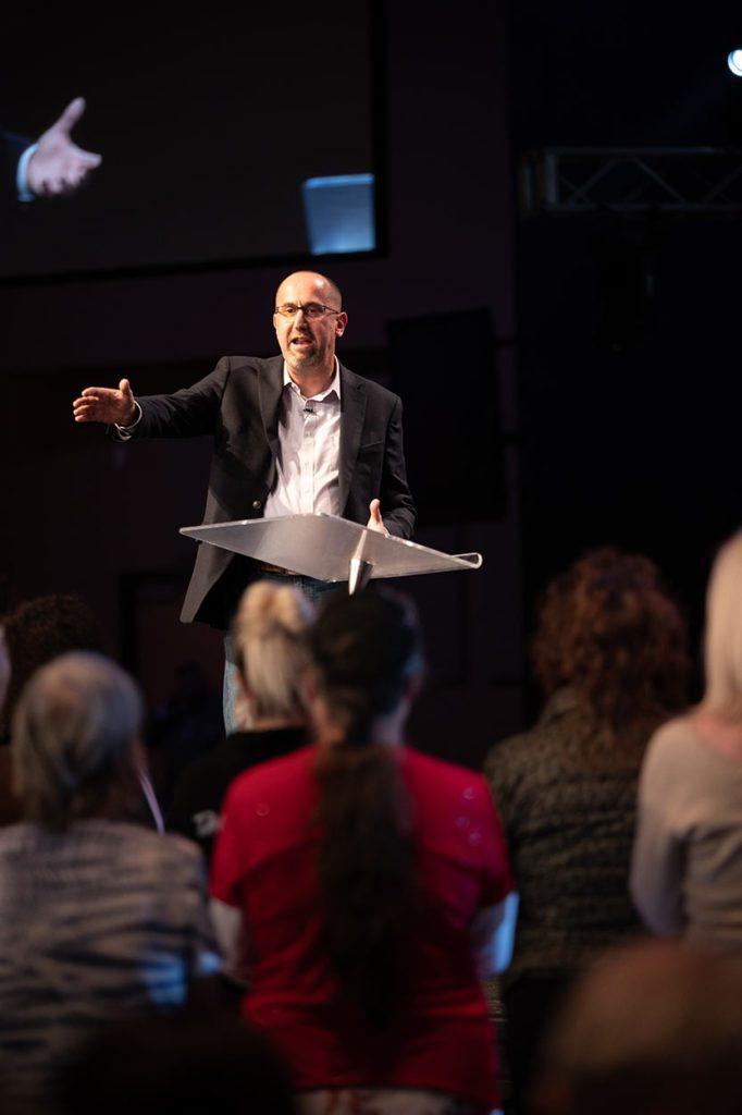 Marcus Wick teaching at a conference